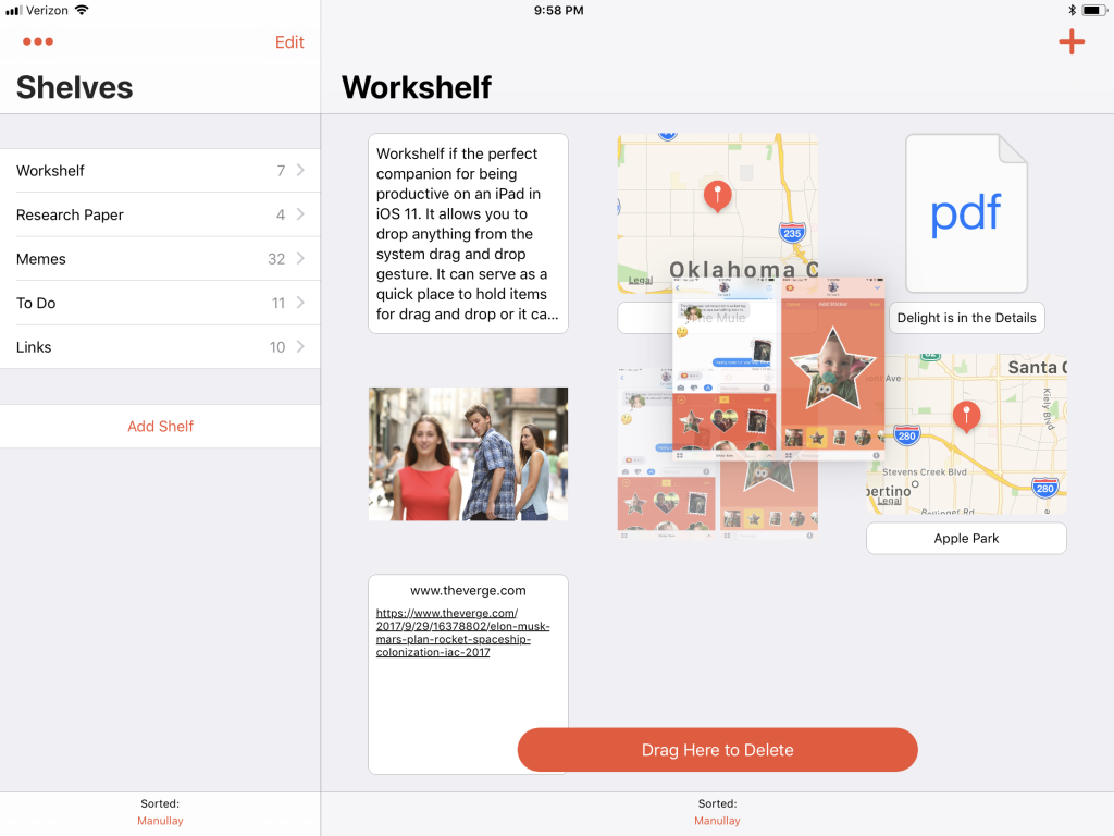Workshelf for iOS
